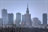Warszawa, Panoramy z Kopca Postania Warszawskiego i Mostu Siekierkowskiego, 29.03.2015