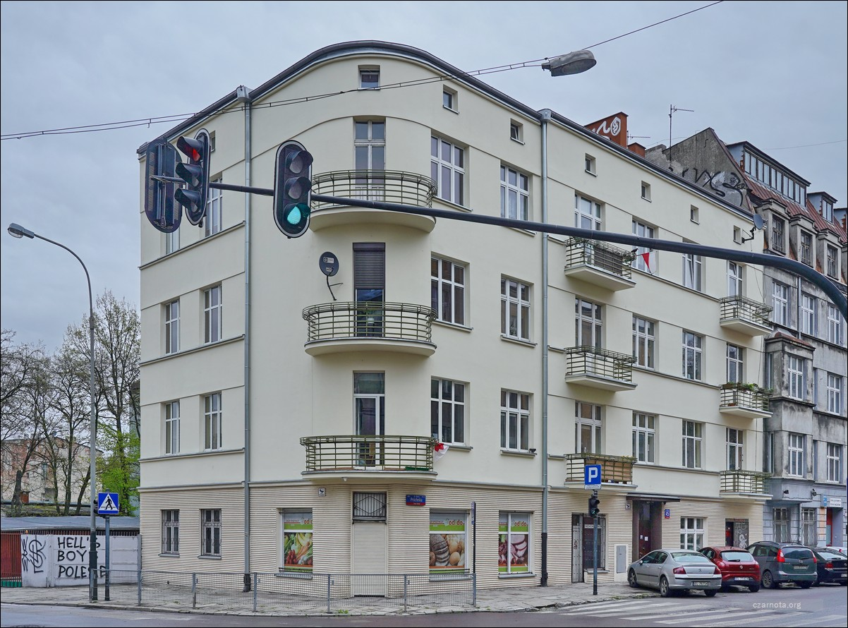 Lódź, ul. Próchnika 45 / Żeromskiego w 2019 i 2020