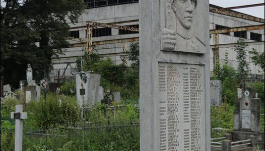 Ukraina (Україна, Ukraine, Украина) Iwano-Frankiwsk (pol. Stanisławów), Stary cmentarz przy ul. Kijewskiej.