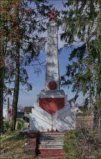 Dębe Wielkie, pomnik poświęcony poległym żołnierzom Armii Czerwonej