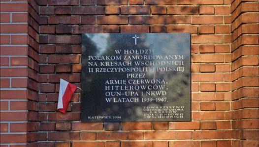 Katowice, ul. Sienkiewicza 47, tablica w hołdzie Polakom zamordowanym na Kresach Wschodnich II Rzeczypospolitej Polskiej
