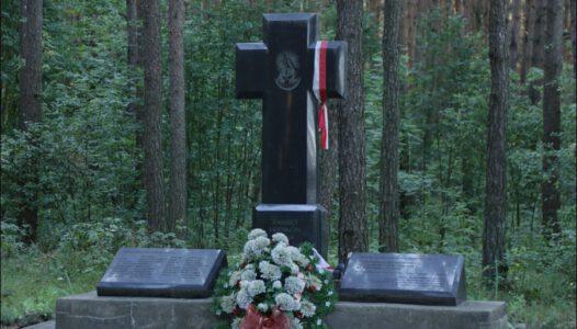 Białoruś (Беларусь, Belarus, Белоруссия) Las Borek pod Berezweczem, miejsce masowych mordów