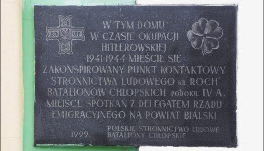 Biała Podlaska, zakonspirowany punkt kontaktowy Batalionów Chłopskich