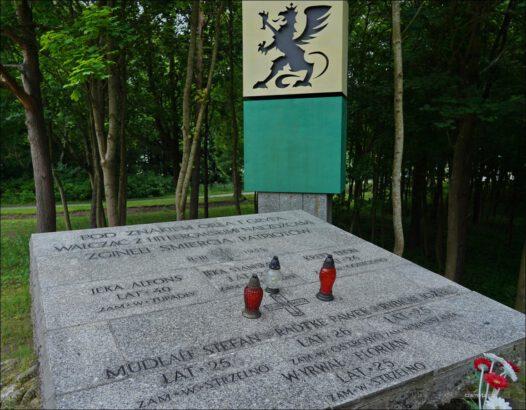 Pomnik żołnierzy Gryfa Pomorskiego w Sulicicach