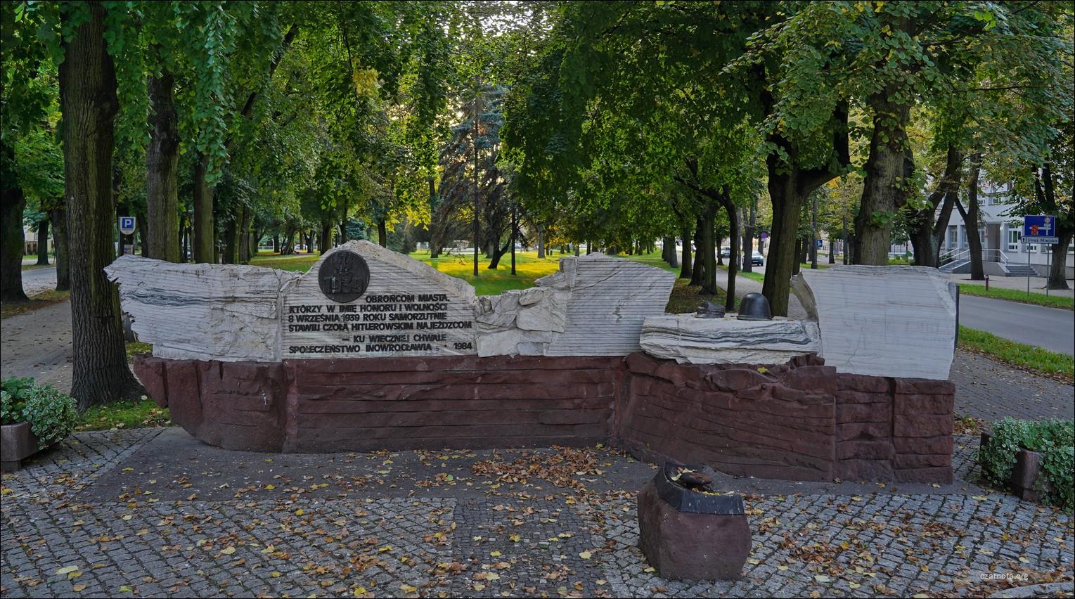 Inowrocław, Pomnik Obronców Inowrocławia w 1939