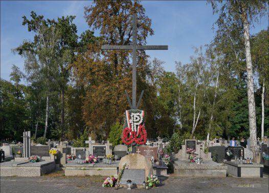 Żyrardów, ul. Kasztanowa 2, Cmentarz Parafialny, krzyż AK