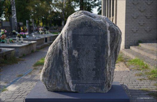 Żyrardów, Kasztanowa, Cmentarz Parafialny, pomnik katyński