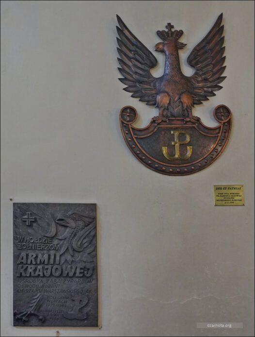 Żyrardów, Kościół Matki Bożej Pocieszenia, tablice upamiętniajace AK