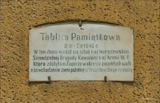 Gryfice, ul. Mickiewicza 19, sztab 1-ej Warszawskiej Samodzielnej Brygady Kawalerii 1-ej Armii Wojska Polskiego