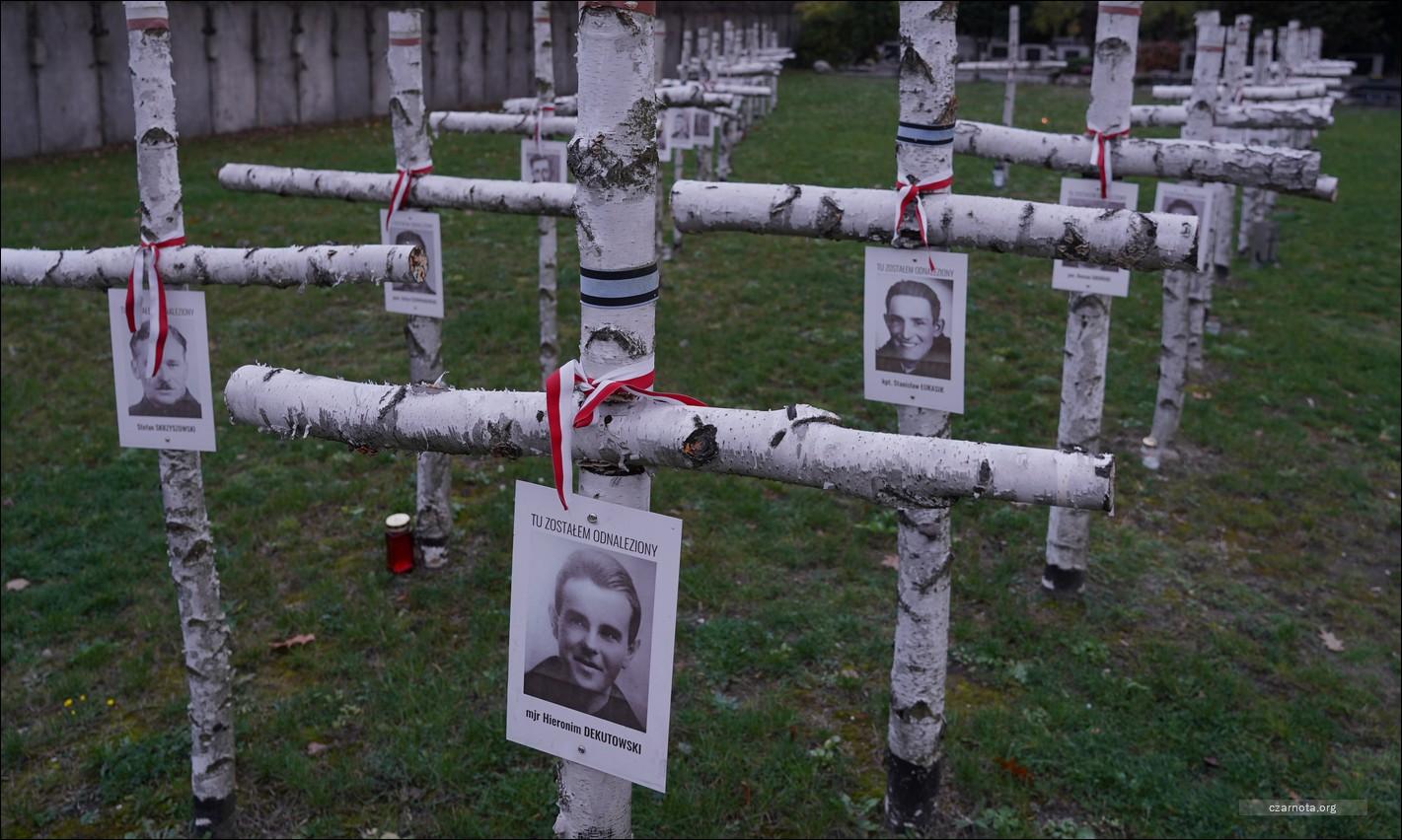 """Warszawa, Cmentarz Wojskowy na Powązkach, Panteon Mauzoleum Wyklętych Niezłomnych – Hieronim Dekutowski """"Zapora"""""""