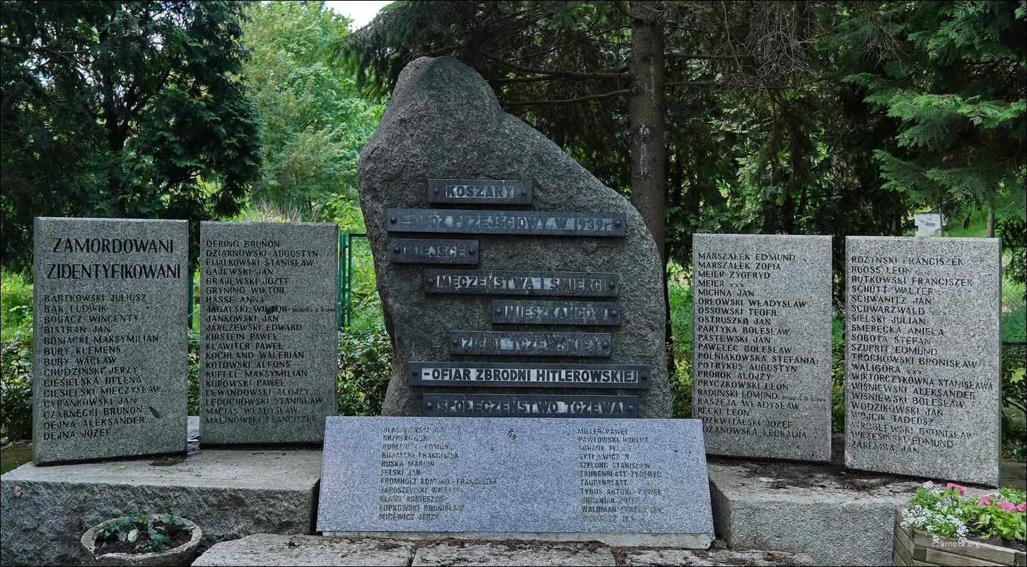 Tczew, Pomnik ofiar obozu przejściowego w koszarach