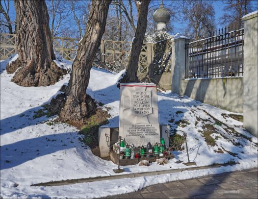 Warszawa, przy Cerkwi św. Jana Klimaka, pamięci ofiar rzezi Woli