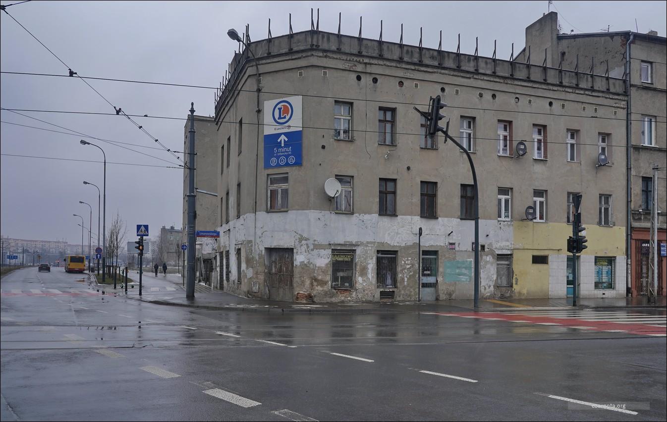 Łódź, Kładka nad ul. Limanowskiego przy Masarskiej w Litzmannstadt Ghetto i w 2021