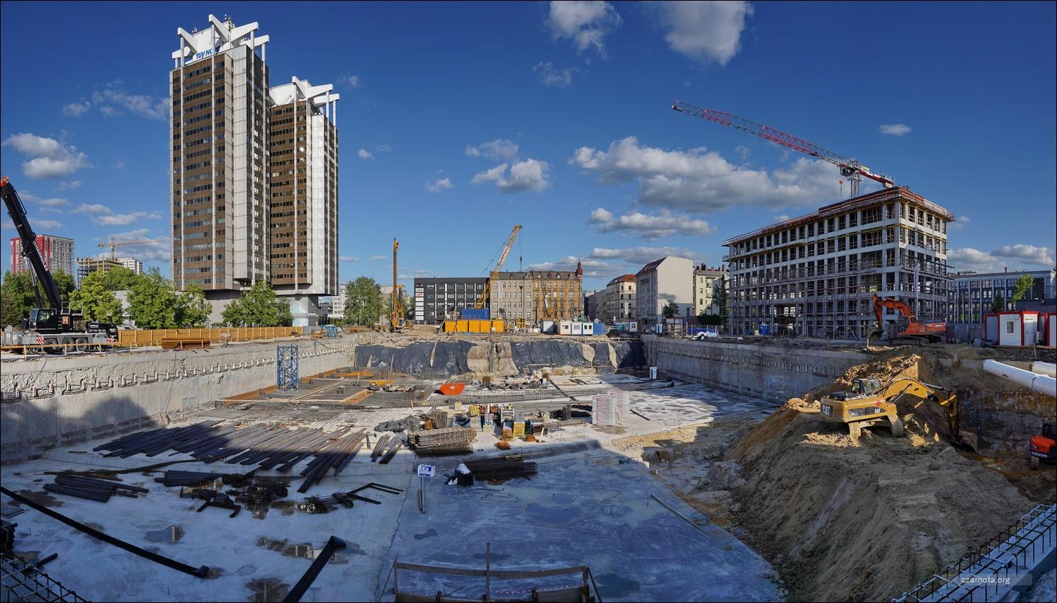 Katowice, ul. Mickiewicza / Dąbrówki, budowa Global Office Park