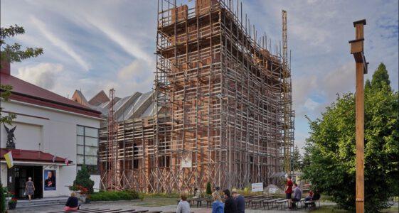 Biała Podlaska ul. Pokoju ostatnia budowa kościoła w Polsce