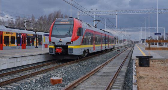 Zgierz. Dworzec kolejowy. Remont peronów i linii kolejowej