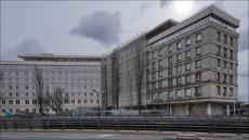 Warszawa, aleja Niepodległości 208, Główny Urząd Statystyczny, remont elewacji